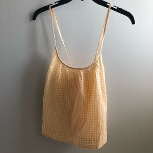 Madewell gingham print strappy tank Size XS